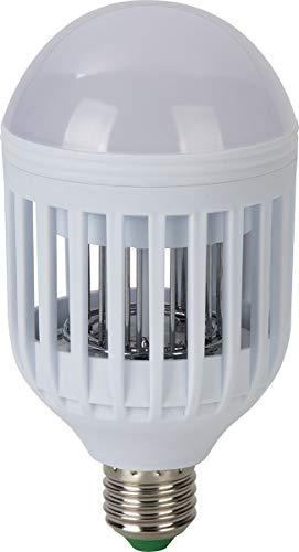 Elimina Insectos Jata Hogar MELI0220 y Bombilla con 12 LED´s. Iluminación 380 LM. 4 Bombillas de LED Ultravioleta como atrayentes. Uso Interior y Exterior. Área de acción: 30 m2