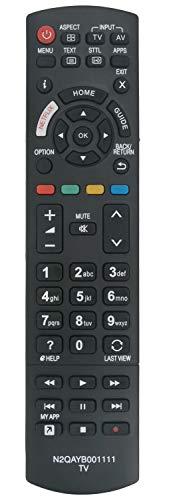 ALLIMITY N2QAYB001111 Control Remoto reemplazado por Panasonic Viera TV TX-40EX600B TX-49EX580B TX-49EX600B TX-49EX603E...