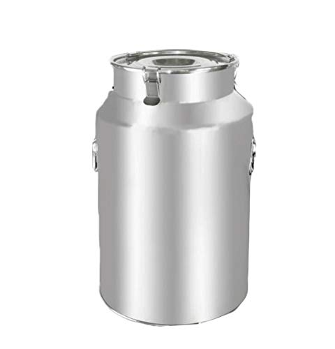 Edelstahl Sealed Barrel, 22L-88L Multifunktions-Milch Barrel Öllagerung Reis Barrel Kaffee Eimer, volle Silikon-Dichtung / 3 Buckles / Bewegliche Handgriff for Long Distance Transport / Gewerbe / Indu