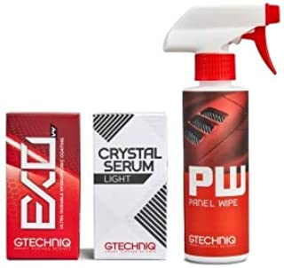Gtechniq Panel Wipe, Crystal Serum Light and EXOv4 30ml Bundle