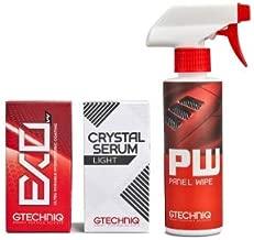 Gtechniq EXOv4, Crystal Serum Light Ceramic Composite Coating Paint Protection & Panel Wipe 50ml Bundle