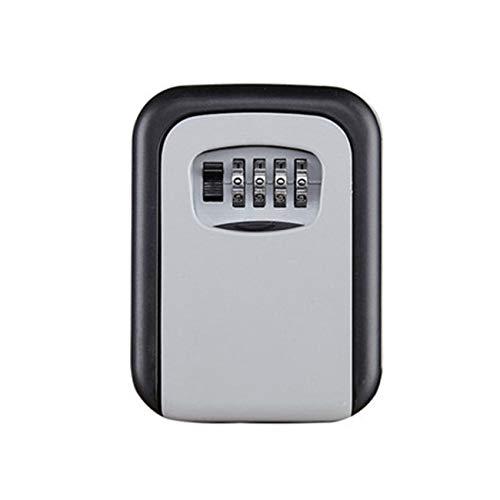 FYstar Passwort Schlüsselbox Große Dekoration Schlüssel Code Box Schlüssel Aufbewahrungsschloss Box Wandmontage Passwort Box Outdoor Schlüssel Safe Schließfach (Grau)