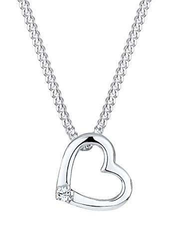 Elli Halskette Herz Swarovski® Kristall 925 Sterling Silber