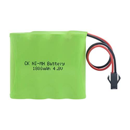 RitzyRose Batería AA 4,8 V 1800 mAh, grupo baterías Ni MH recargable con enchufe 5557/SM/6,2 SMPlug