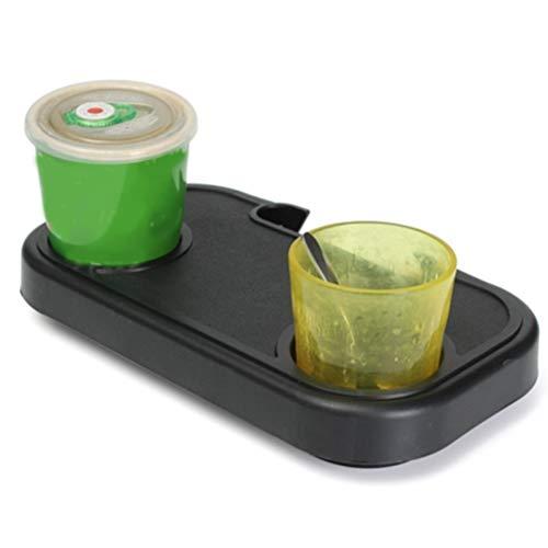 qwertyu Silla de playa plegable con bandeja de comida para beber portátil,...