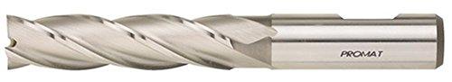 PROMAT 866380 Schaftfräser D.10mm HSS-E Co8 DIN844 Typ N PROMAT 4Schneiden lang