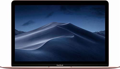 Apple 12 Inch MacBook Laptop (Retina Display, 1.2GHz Intel Core m3 Dual Core Processor, 8GB RAM, 256GB SSD Storage, Intel HD Graphics, Mac OS) Rose Gold, MNYM2LL/A