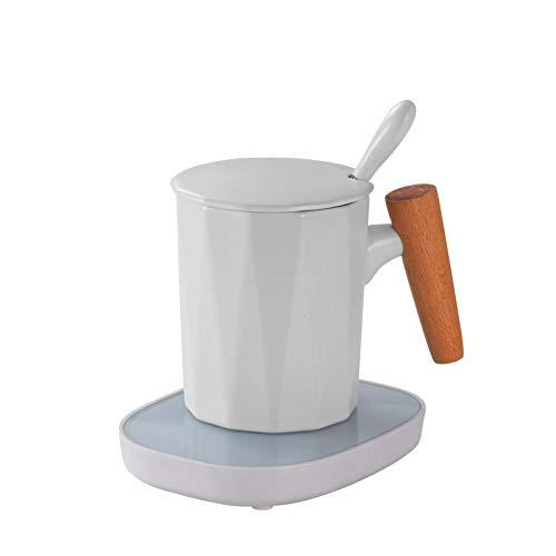 Tasse Chauffante Tasse Chauffée Coaster Tasse Chauffe Tactile 3 Vitesses Thermostat Chaud Tasse Tapis Ménage Lait Chaud Café Thé Tasse Pad 220V B