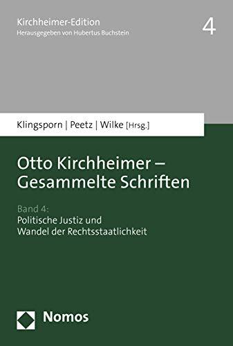 otto kirchheimer politische justiz