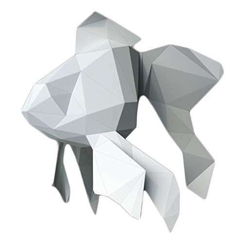 WLL-DP Escultura De Papel De Pez Dorado, Manualidades De Papel Precortadas, Rompecabezas De Origami Hecho A Mano, Modelo De Papel 3D, Juguete De Papel, Decoración del Hogar, para Niños Adultos