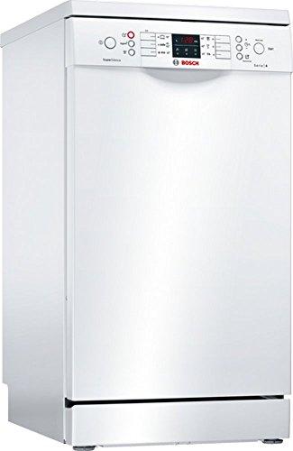 Bosch SPS46IW07E Serie 4 Freistehender Geschirrspüler / A++ / 45 cm / Weiß / 197 kWh/Jahr / 9 MGD / SuperSilence / Extra Trocknen / VarioBesteckkorb