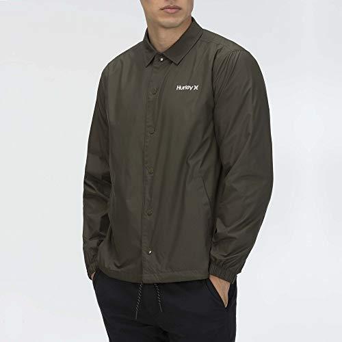 Hurley M Siege Coaches Jacket Chaqueta, Hombre, Cargo Khaki, S
