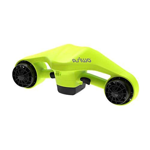 Asiwo Scooter Subacqueo Elettrico Seascooter con Action Camera Mount - Scooter Marino a Doppio Motore Impermeabile per Immersioni subacquee Nuoto Snorkeling (Verde)