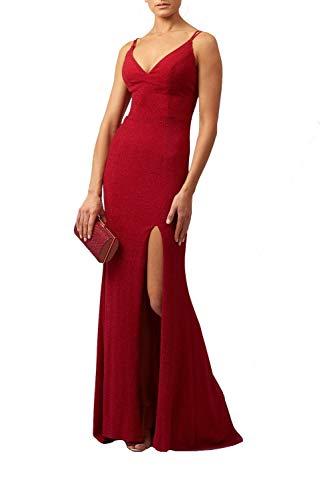 Mascara Rot Mc181472 Glitzerriemen Körper Con Kleid 36