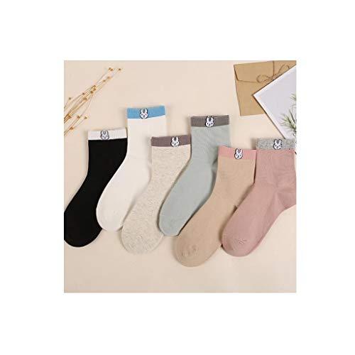 ZHAO ZHANQIANG Herbst und Winter New Socken Großhandel Japanisch Koreanisch Color Matching Baumwolschlauch-Stapel Socken Weibliche Socken, (Color : O50)