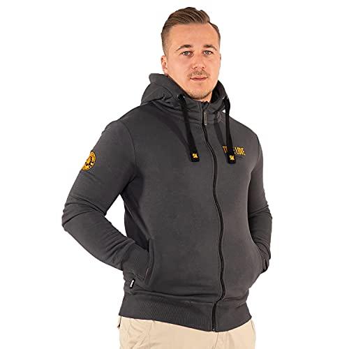 SOURKRAUTS Truelove - Sudadera con capucha para hombre (tallas S - XXXL), color gris oscuro gris oscuro XXL