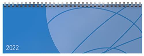 Tischquerkalender Professional Colourlux blau 2022: 1 Woche 2 Seiten; Bürokalender mit nützlichen Zusatzinformationen; Format: 29,8 x 10,5 cm