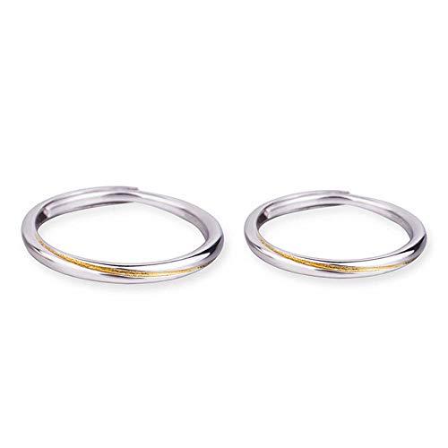 YOLANDE 925 sterling zilveren mobiele ring partnerringen trouwringen verlovingsringen opening simpel band ringen instelbare ringen