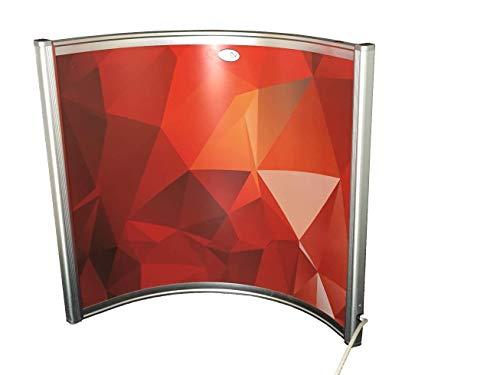 FERN INFRAROT Schreibtisch Heizung (neueste Technologie) 300W Bogenpaneel mit höchsten Sicherheitsstandards (CE, ROHS), 50 Jahre/100.000Std Lebensdauer und 99% Heizübertragung