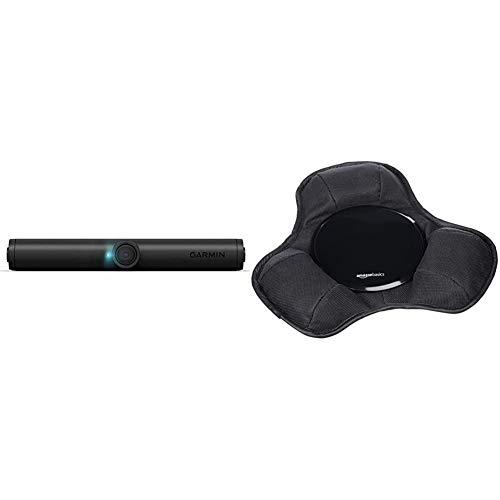 Garmin BC 40 Drahtlose Rückfahrkamera mit Schraubhalterung – Flexible Montage, Wasserdicht, Sprachsteuerung & AmazonBasics - Armaturenbrett-Halterung für tragbare Navigationsgeräte