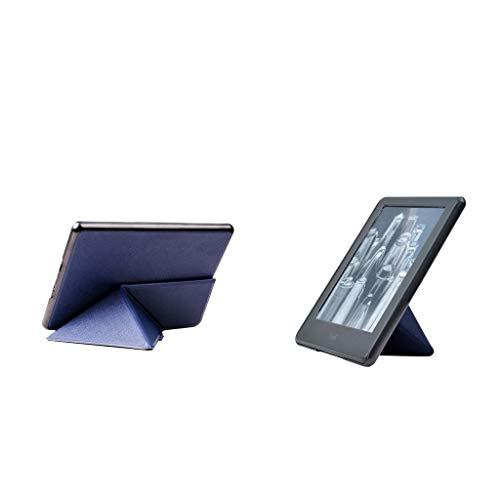 キンドル用ケース Kindle Paperwhite対応 折スタンド 2色セット 6インチ - 濃紺