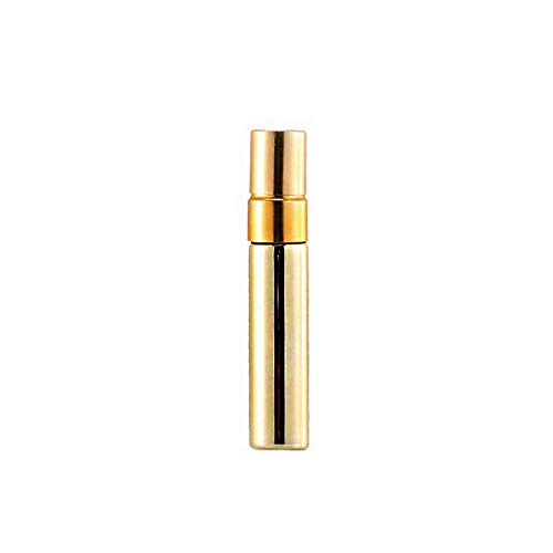 Urijk Portable Perfume Atomiser Bottle, Portable Aromatherapy Essential Oil Bottle, Reusable Cosmetic Bottle, 1 Piece 5/10 ml (Gold, 10 ml, Enhance)