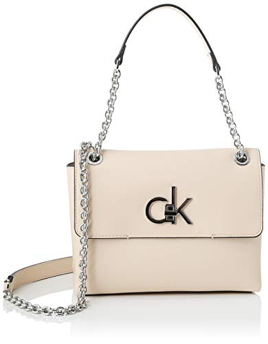 Calvin Klein Damen RE-Lock Conv Crossbody MD Umhängetasche Pink (Light Sand)