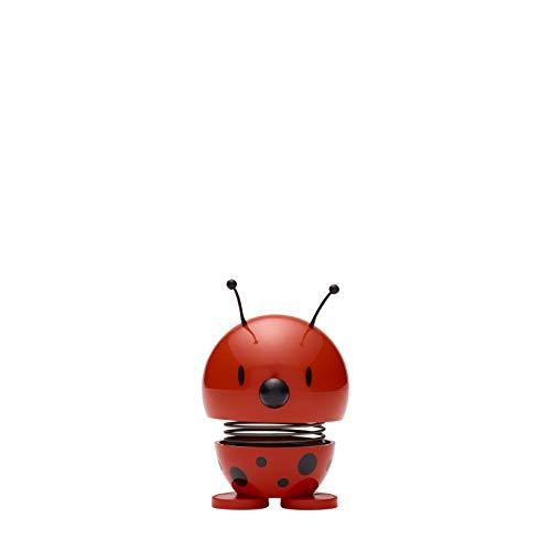 Hoptimist Ladybug Wackelfigur Wackel Figur Dekofigur Dekoidee Plastik Rot Ø 5 cm