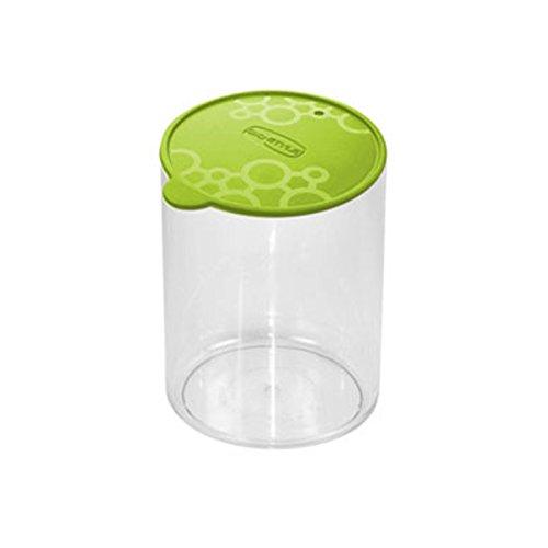 Vorratsdose aus PVC, rund, mit Tengo M Giò Style, grüner Deckel für Frische, Nudeln, Kekse
