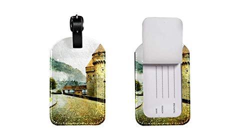 Etiquetas de equipaje de cuero para tarjetas de visita titular de la tarjeta de visita, etiqueta de...