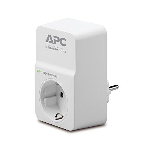APC Surge Arrest Essential, PM1W-GR, Protección contra subidas y picos de tensión, 1 toma, Color Blanco