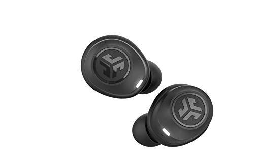 (Refurbished) JLAB Audio Jbuds Air True Wireless Signature Bluetooth Earbuds, Charging Case, Black, IP55 Sweat Resistance, Bluetooth 5.0 Connection