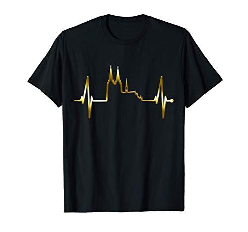 Latido Del Corazón De Colonia Catedral De Colonia Carnaval Camiseta
