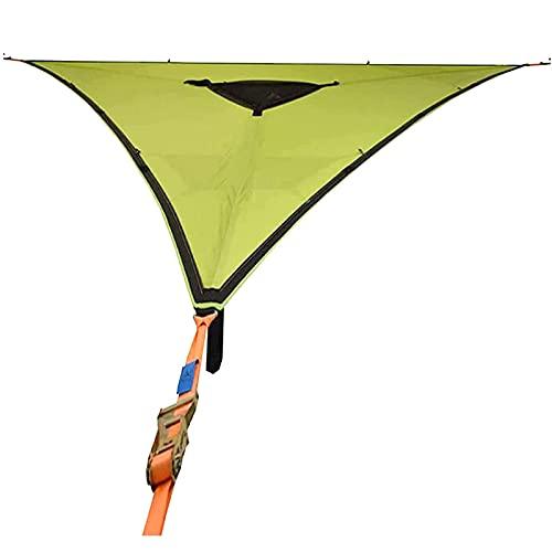 CXQD Hamaca de Camping Aérea Gigante Revolucionaria con Correas Anti Rollo,Hamaca de árbol de Triángulo Portátil, para Patio Exterior
