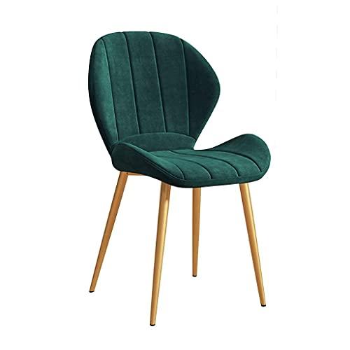 Velvet Dining Chairs Stoff gepolsterter Sitz mit Metallbeinen Dressing Lounge Home Kitchen Chair