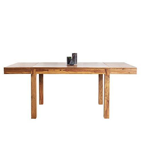 Invicta Interior Massiver Esstisch Pure 120-200 cm Sheesham Massivholz ausziehbar Holztisch Küchentisch mit Ansteckplatten