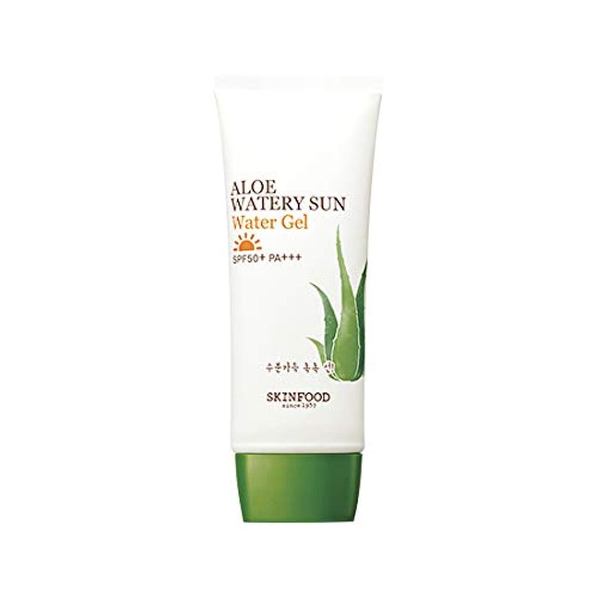 望ましい値クレーターSkinfood アロエウォーターサンジェルSPF50 + PA +++ / Aloe Watery Sun Water Gel SPF50+ PA+++ 50ml [並行輸入品]