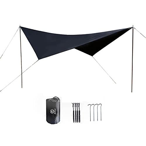 Parasol impermeable para tienda de campaña, lona de camping, para 3-4 personas, toldo ultraligero, resistente al sol y a la lluvia, tela de playa, senderismo al aire libre, picnic en la playa