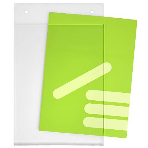 DIN A5 Plakattasche/Acrylglastasche / Einschubtasche im Hochformat mit 2 Bohrlöchern