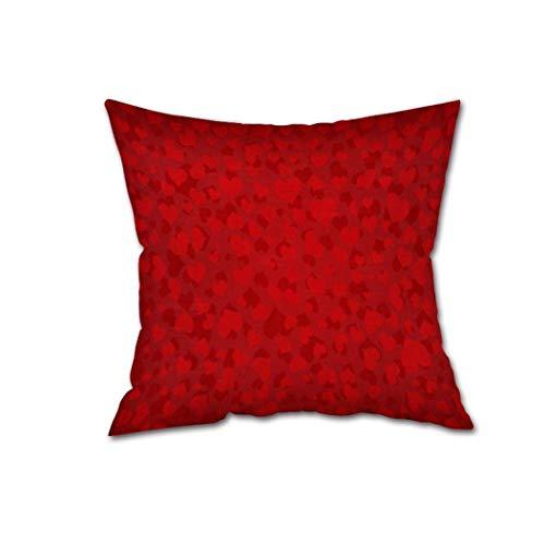 Pingrog Bijzonder Valentijnsdag van het hele hart geschenk eenvoudige stijl smaakvol wooncultuur laken voor sofakussen 45X45 goedkope pluizig rooster kussensloop