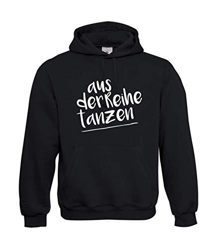 Textilhandel Hering Kapuzenpullover - Aus der Reihe tanzen (Schwarz, XL)