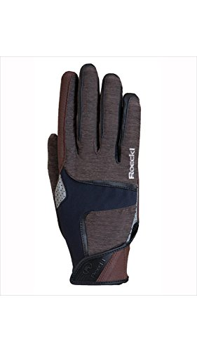Roeckl Sports Handschuh Modell Mendon, Unisex Reithandschuh, Mokka 8