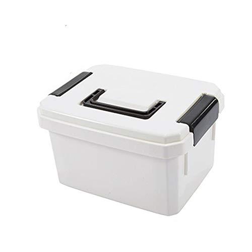 Yuan Ou Kit Primeros Auxilios Organizador De Kits De Ayuda Multifuncional con Kits De Mango PP Droga Plástica para El Hogar 20.5-14-12.5 Blanco