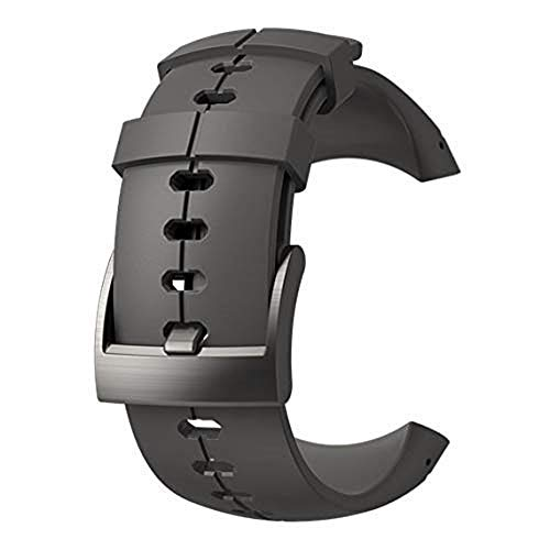 SUUNTO, Original Strap for All Spartan Ultra Watches, Silicone, Length: 24,5 cm, Width: 25 mm, Anthracite, Incl. Attachment pins, SS022688000