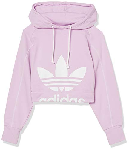 adidas Originals Women's Cropped Hoodie Clear Lilac Small