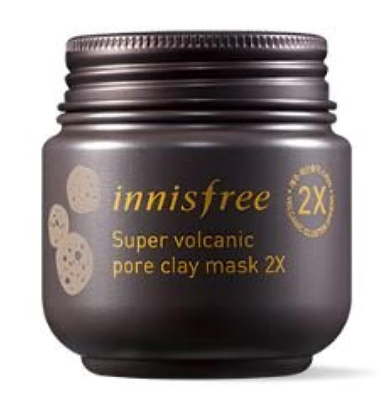 破壊サンダーベアリング★NEW★[innisfree] Super Volcanic Pore Clay Mask 2x 100ml [並行輸入品]