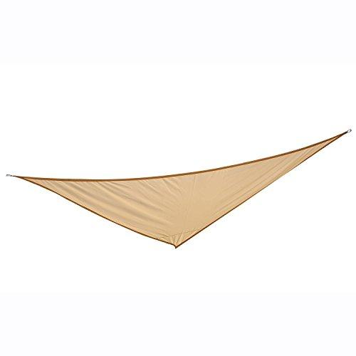 Outsunny Sonnensegel Sonnendach Sonnenschutz Dreiecke Polyester (Beige, 5x5x5m)