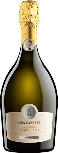 Casa Canevel Cuvée Oro Spumante brut Prosecco Schaumwein Italien (3 Flaschen)