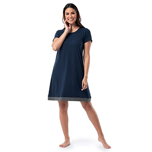 Fruit of the Loom Women's Super Soft and Breathable Sleep Shirt, Midnight Blue, X-Large