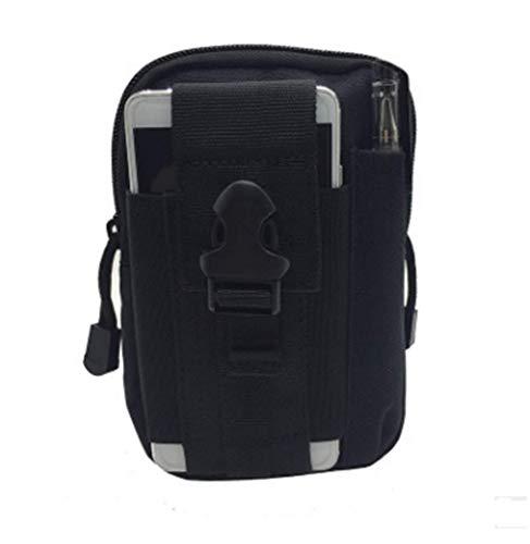 Poches tactiques ventilateur militaire poches de sport en plein air poches de téléphone portable poches étanches hommes pour les sports de plein air (noir)